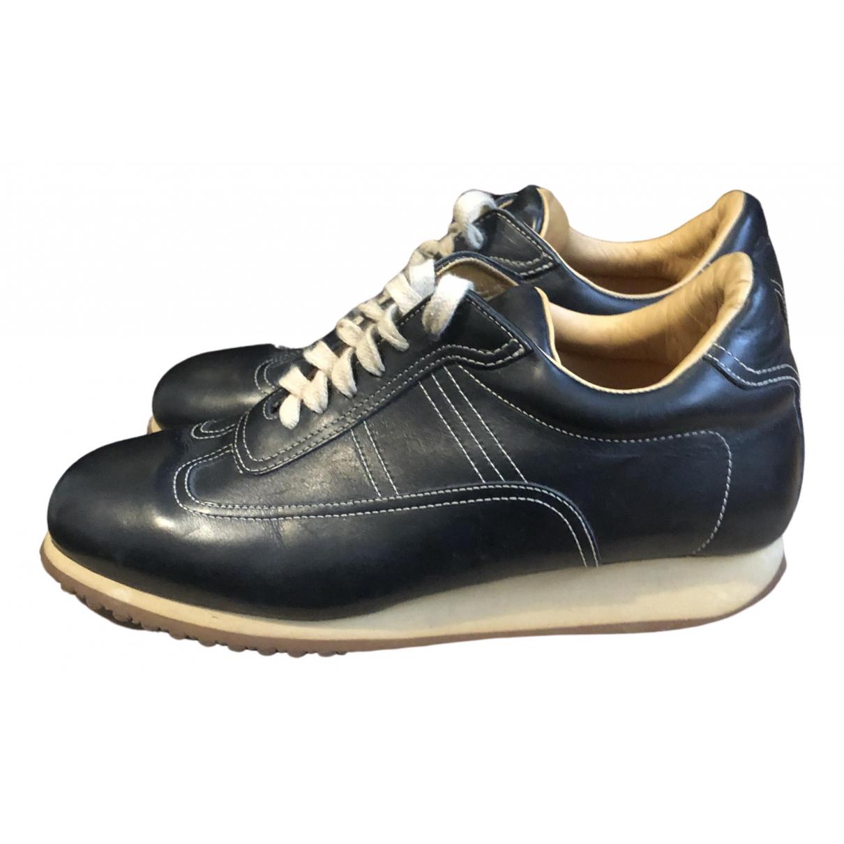 Santoni N Black Leather Trainers for Women 35.5 EU