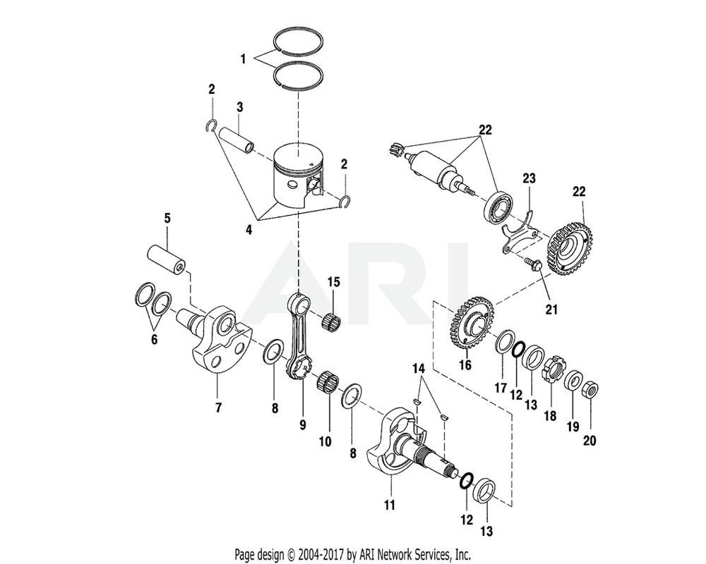 Polaris OEM 3084152 Pin, Crank 1