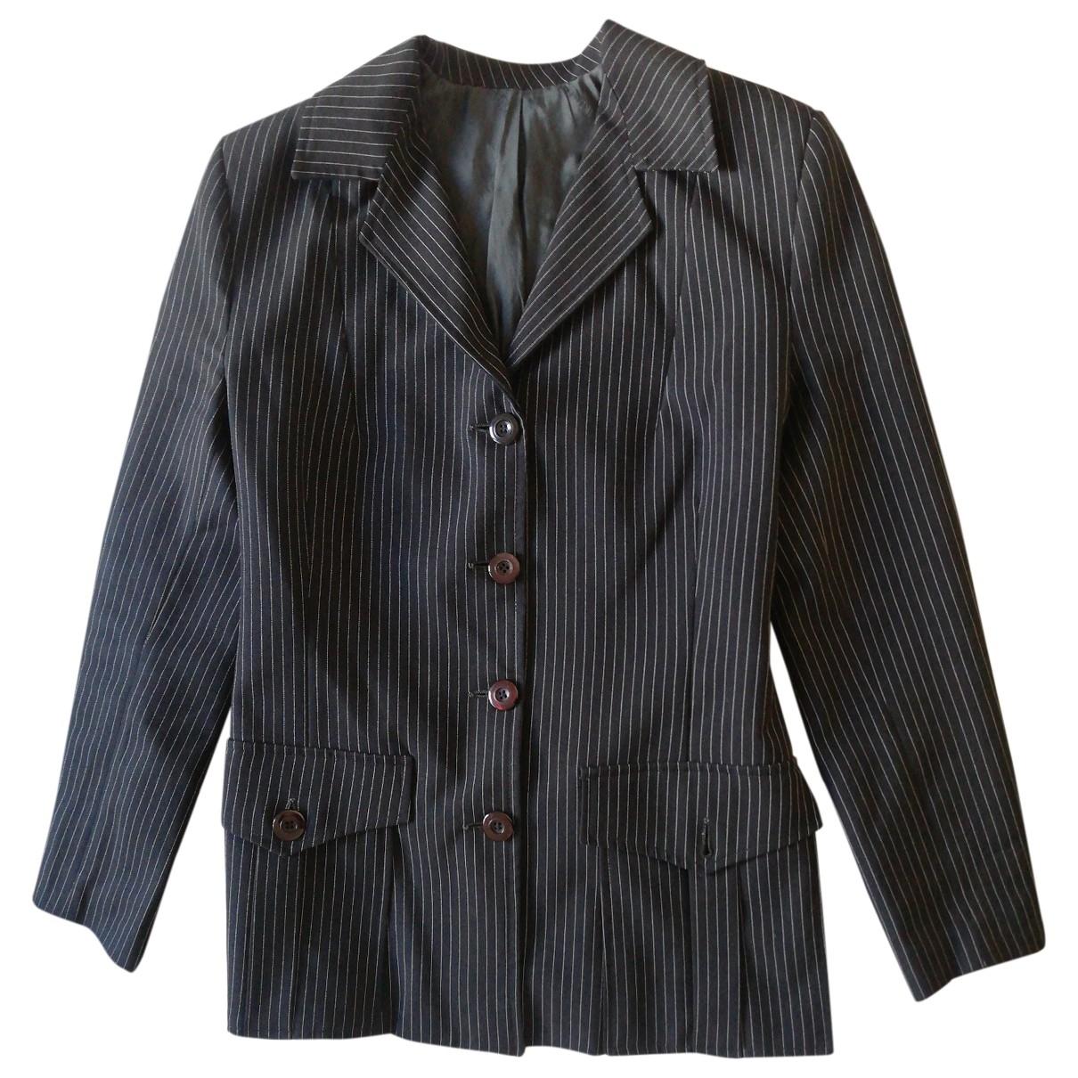 Non Signé / Unsigned \N Black Cotton jacket for Women 40 IT