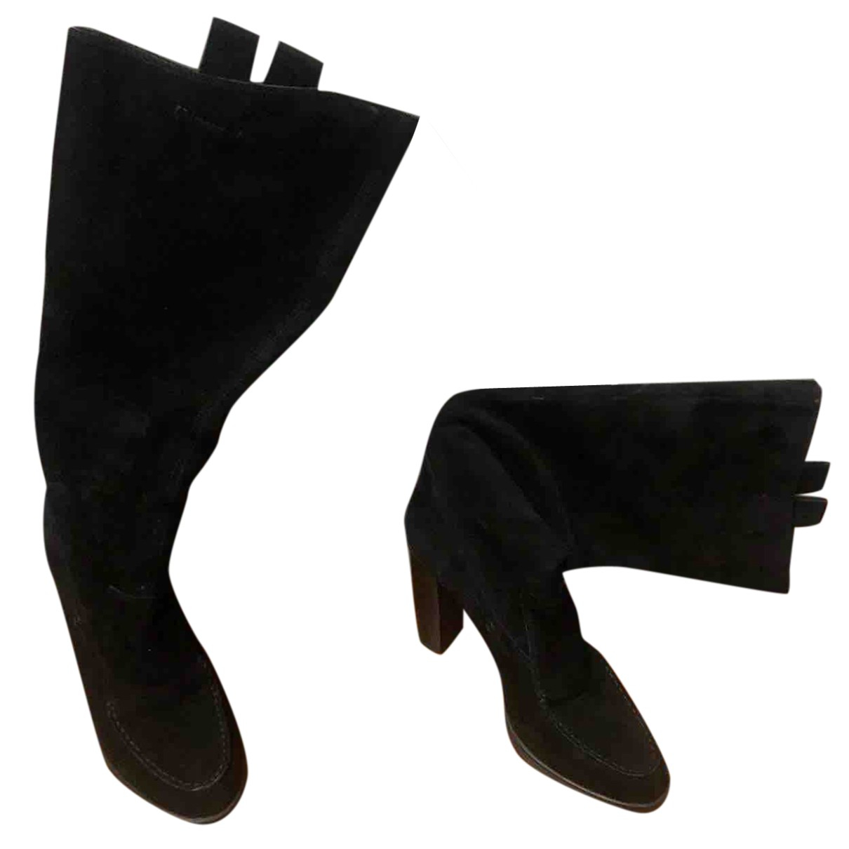 Tod's N Black Leather Boots for Women 39 EU