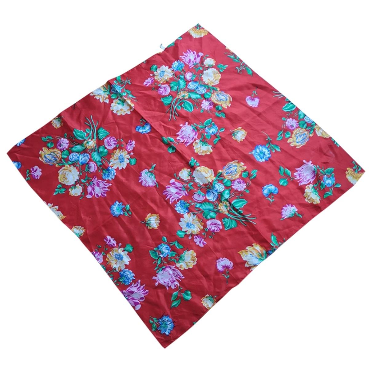 Kenzo - Carre   pour femme en soie - rouge