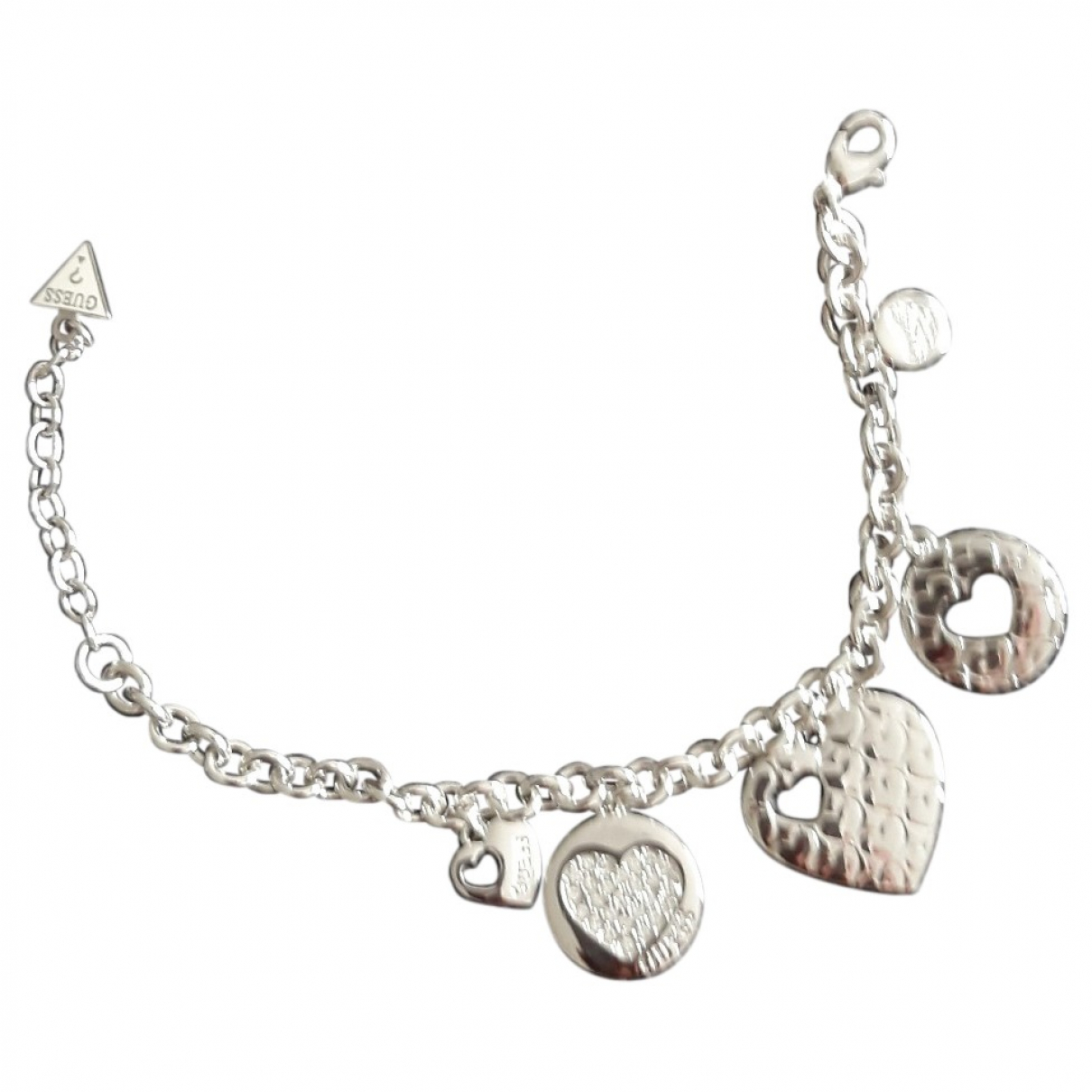 Guess \N Armband in  Silber Metall