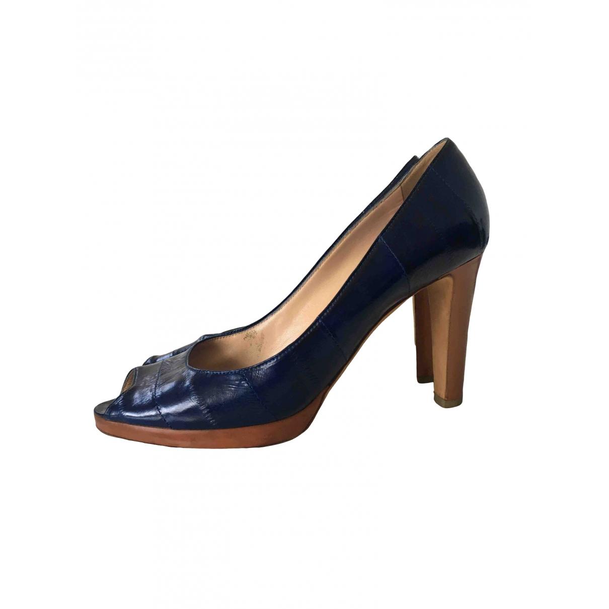 Sergio Rossi \N Blue Leather Heels for Women 38 EU