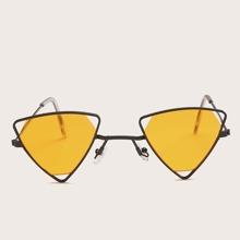 Gafas de sol de hombres de marco metalico triangular