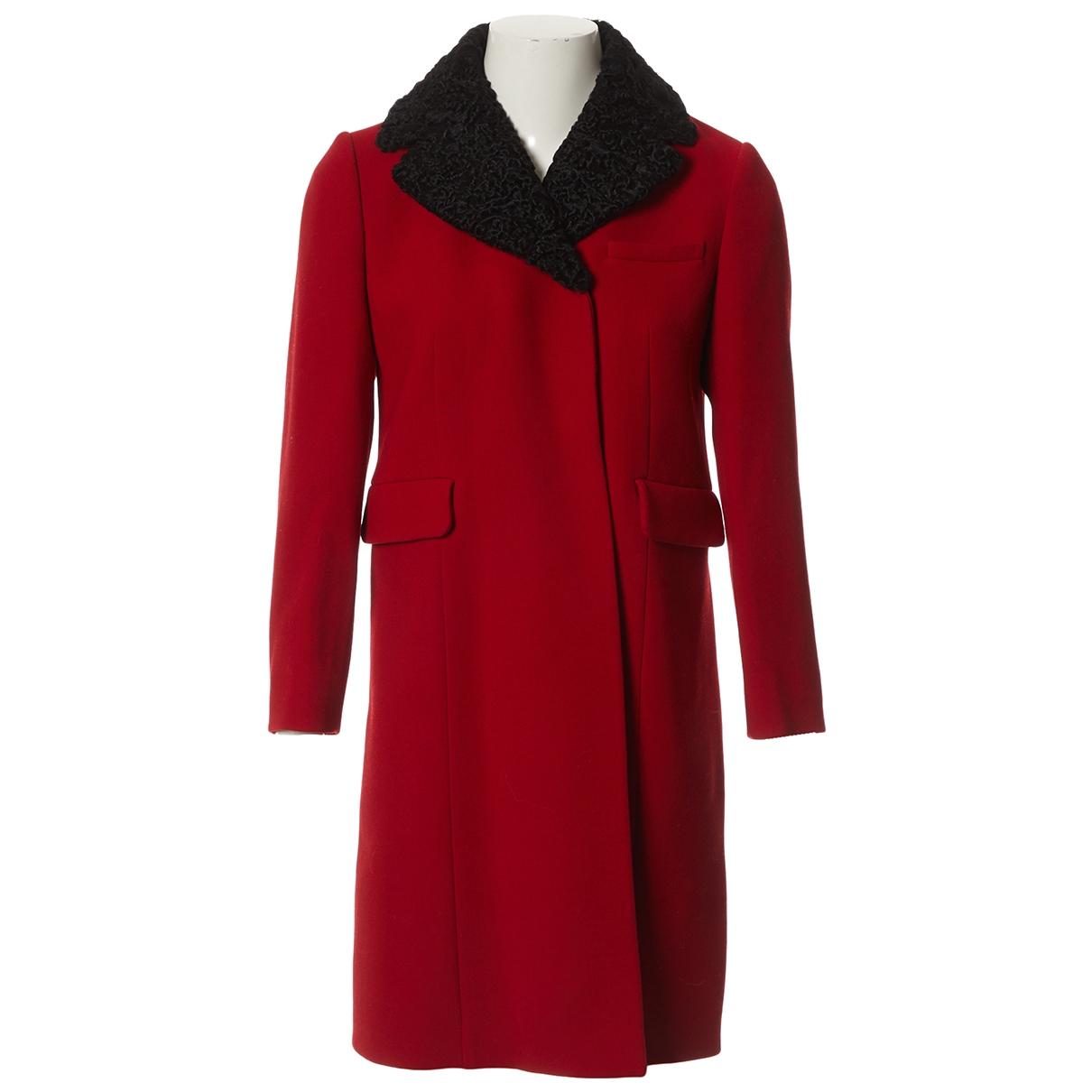 Miu Miu \N Maentel in  Rot Wolle