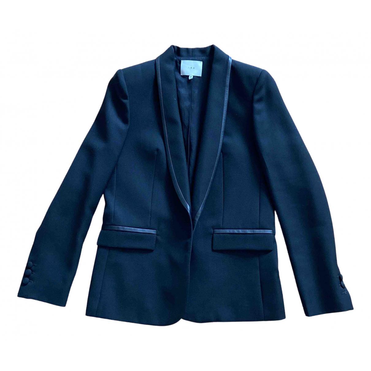 Iro N Black Wool jacket for Women 38 FR