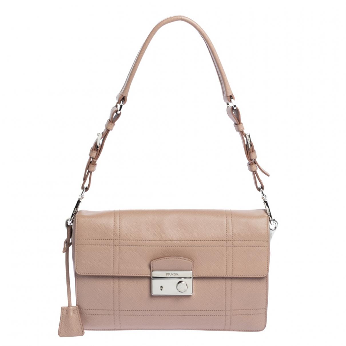 Prada saffiano  Beige Leather handbag for Women N