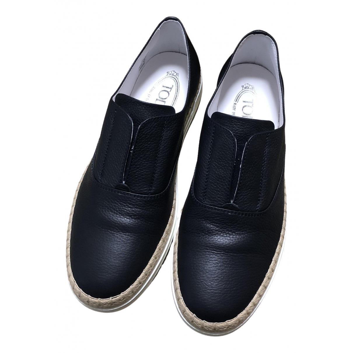 Tod's \N Sneakers in  Marine Leder