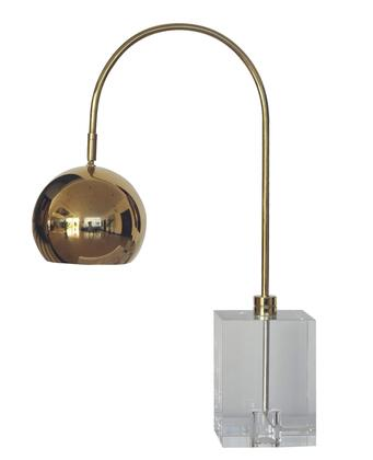 JTL22GH-GP 1-Light Table Lamp with Crystal and Metal Materials and 100 Watts in Gold