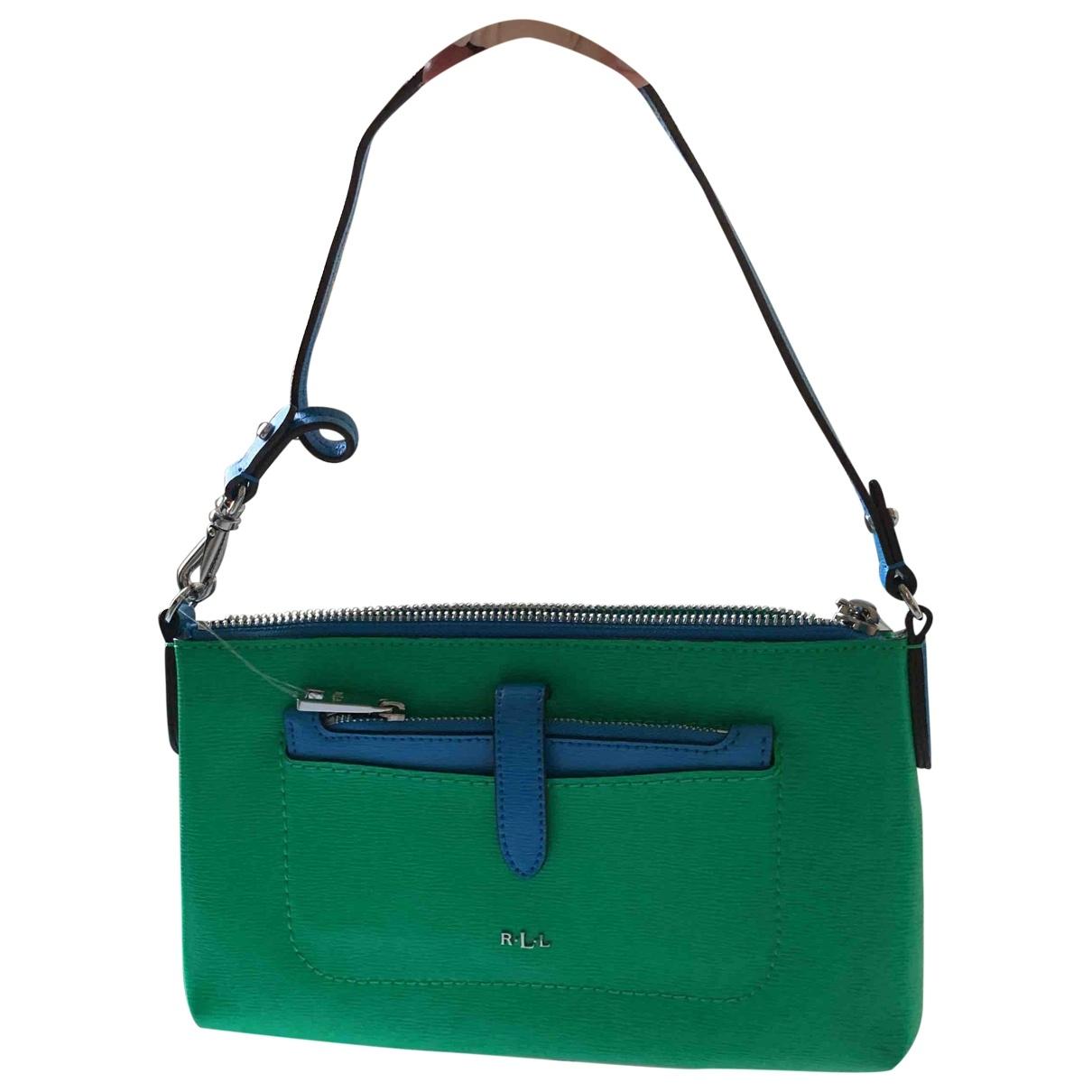 Lauren Ralph Lauren \N Green Leather Clutch bag for Women \N