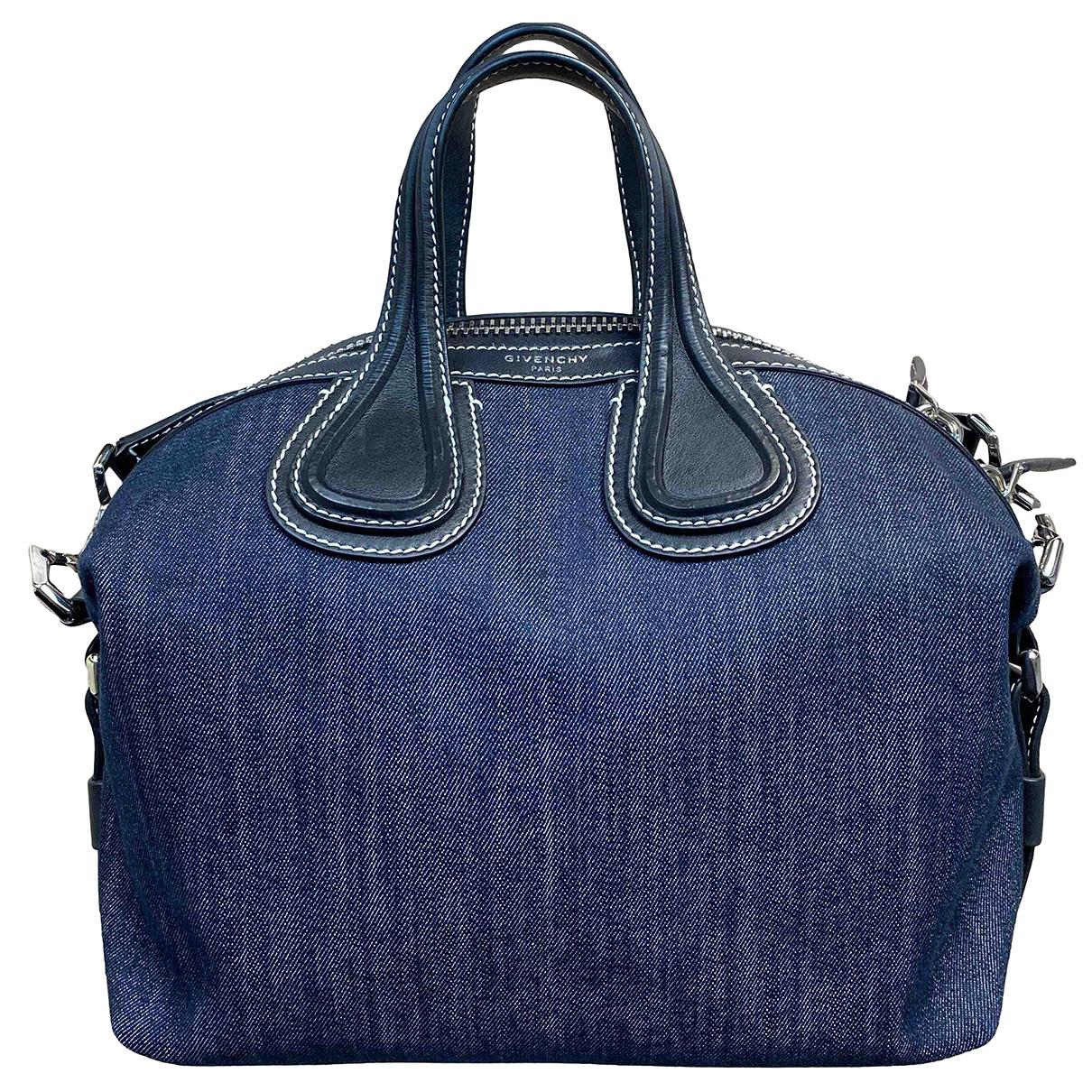 Givenchy - Sac a main Nightingale pour femme en denim - bleu