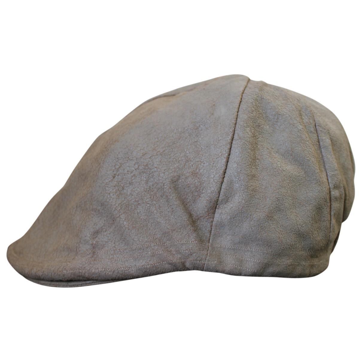 Diesel Black Gold \N Beige Leather hat for Women 58 cm
