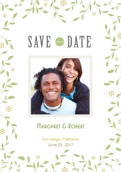 Save the Date Flat Matte Photo Paper Cards with Envelopes, 5x7, Card & Stationery -Save Our Date Snapshot