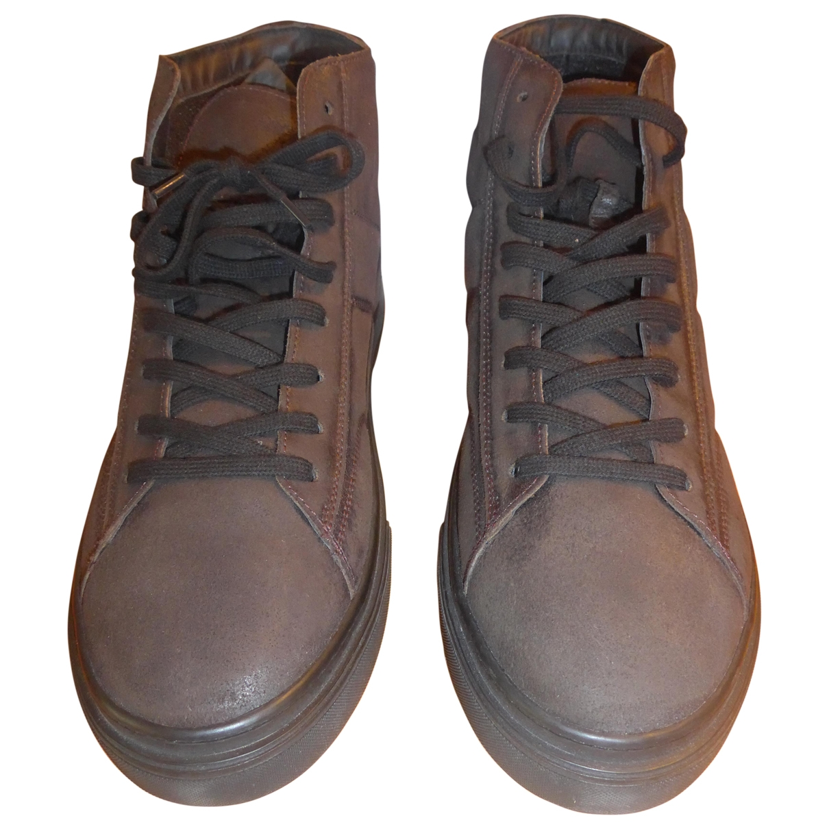 Hogan \N Brown Leather Trainers for Men 45 EU