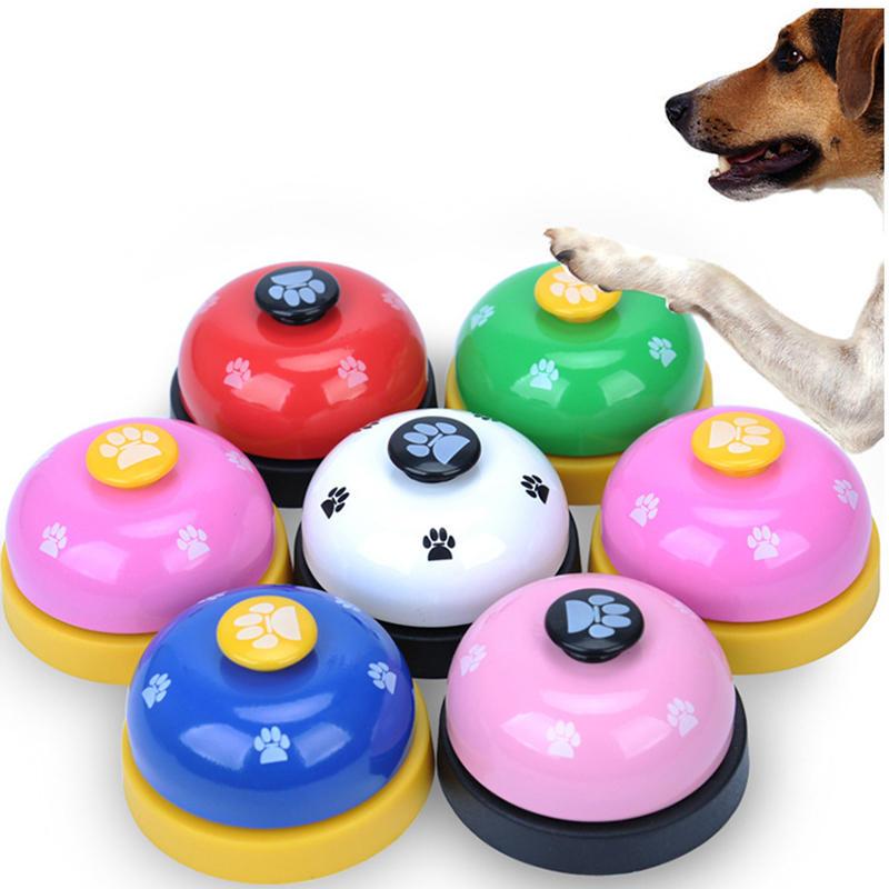 Pet Press Jingle Dog Cat Trainer Pet Intelligence Toy Footprints Press Bells Dog Paw Prints Ringer