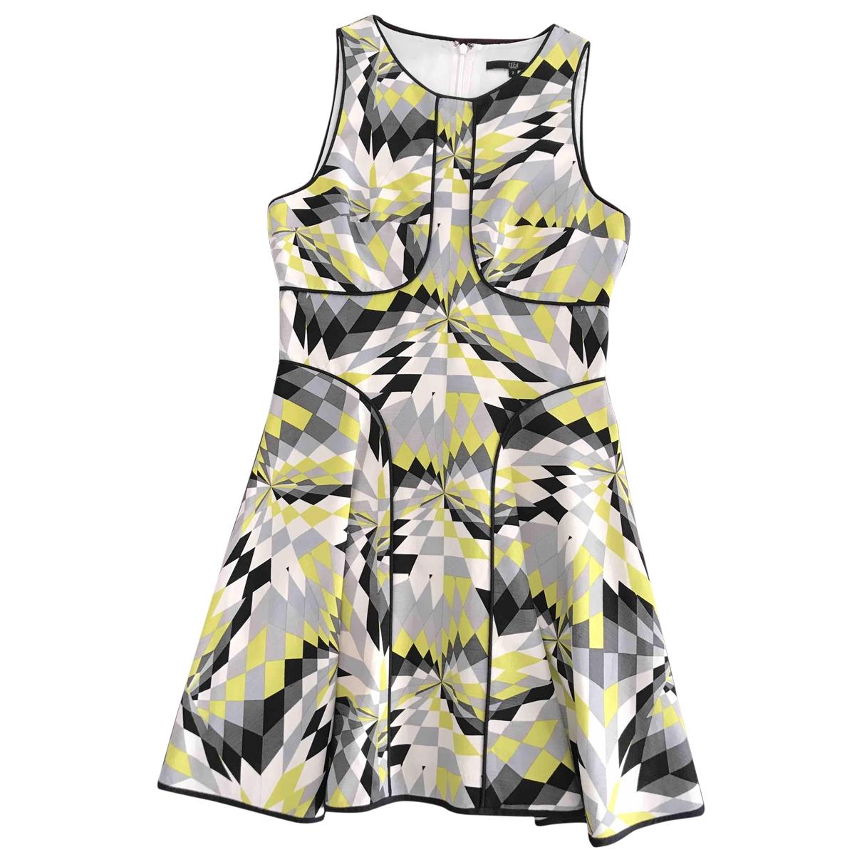 Tibi \N Kleid in  Gelb Baumwolle