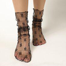 Graphic Lace Socks