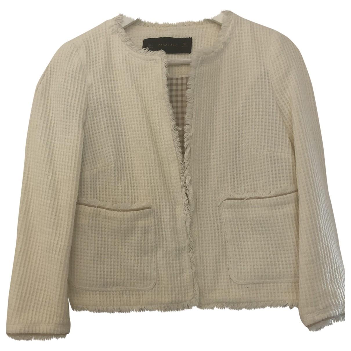 Zara \N White Cotton jacket for Women S International