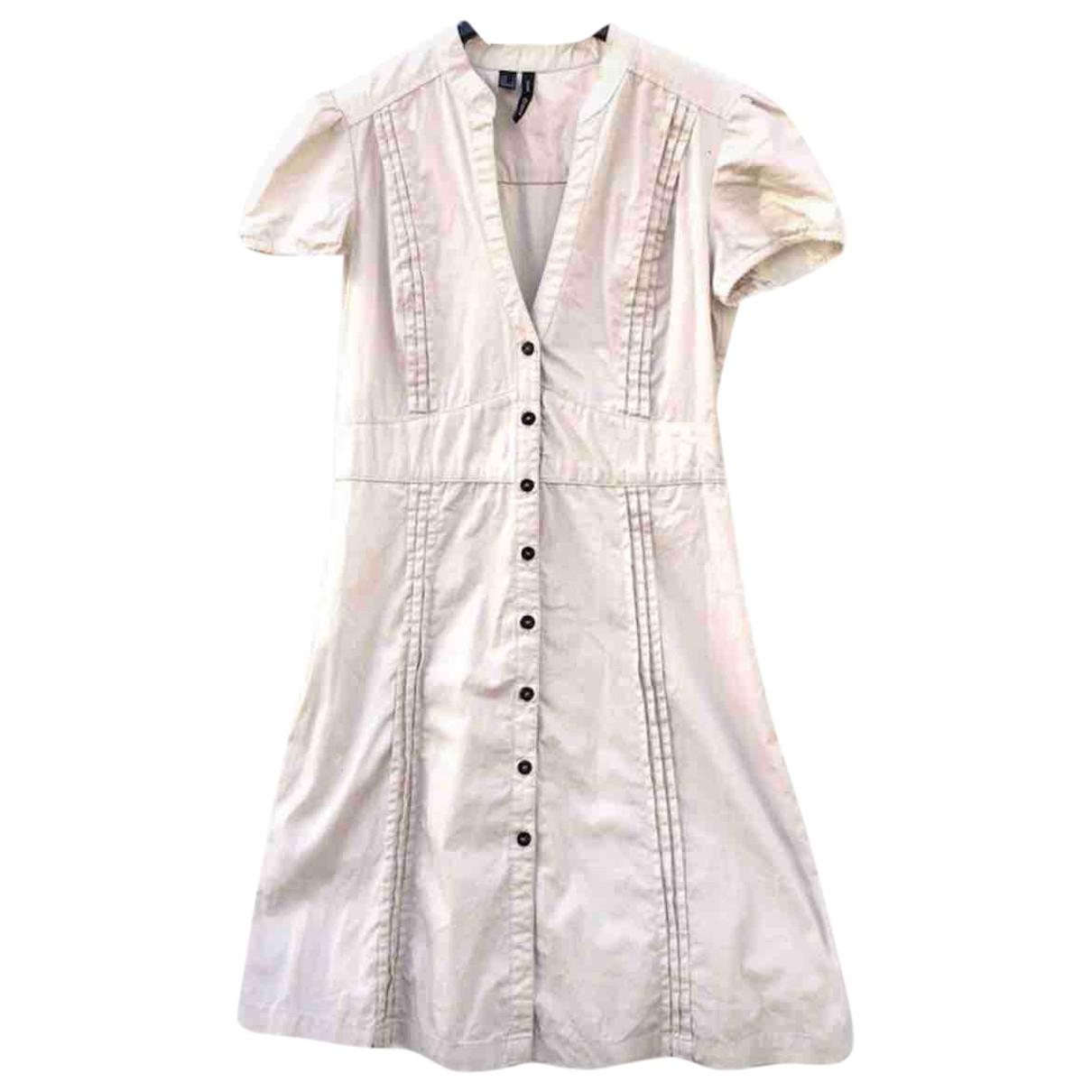 Mango \N Kleid in  Beige Baumwolle