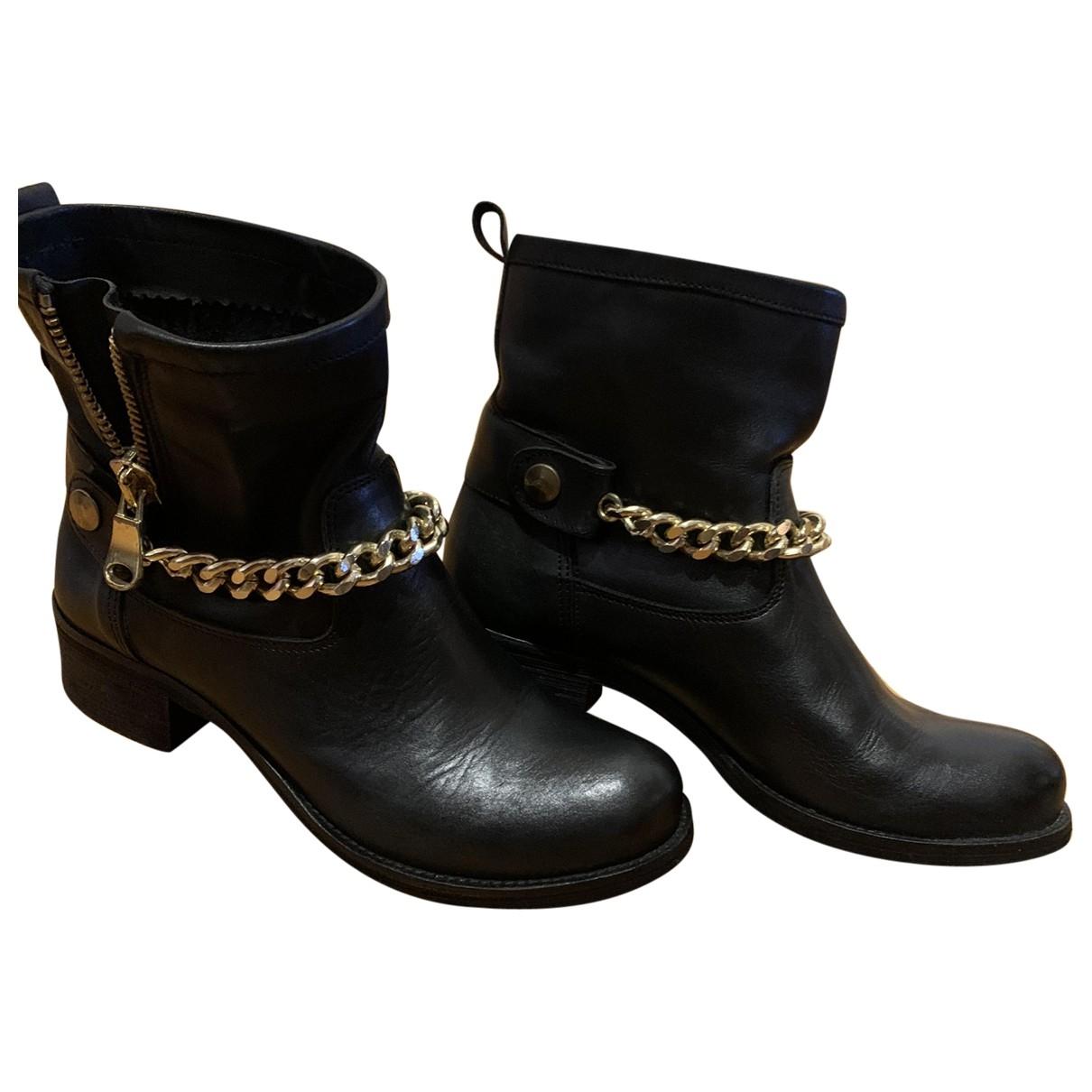 Botas moteras de Cuero Ovye