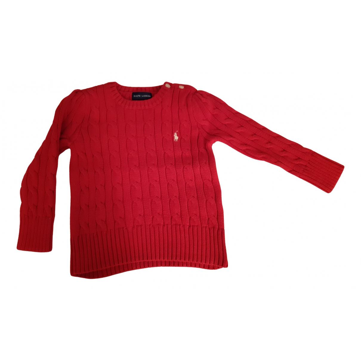 Ralph Lauren - Pull   pour enfant en coton - rouge