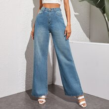 High-Rise Baggy Jeans