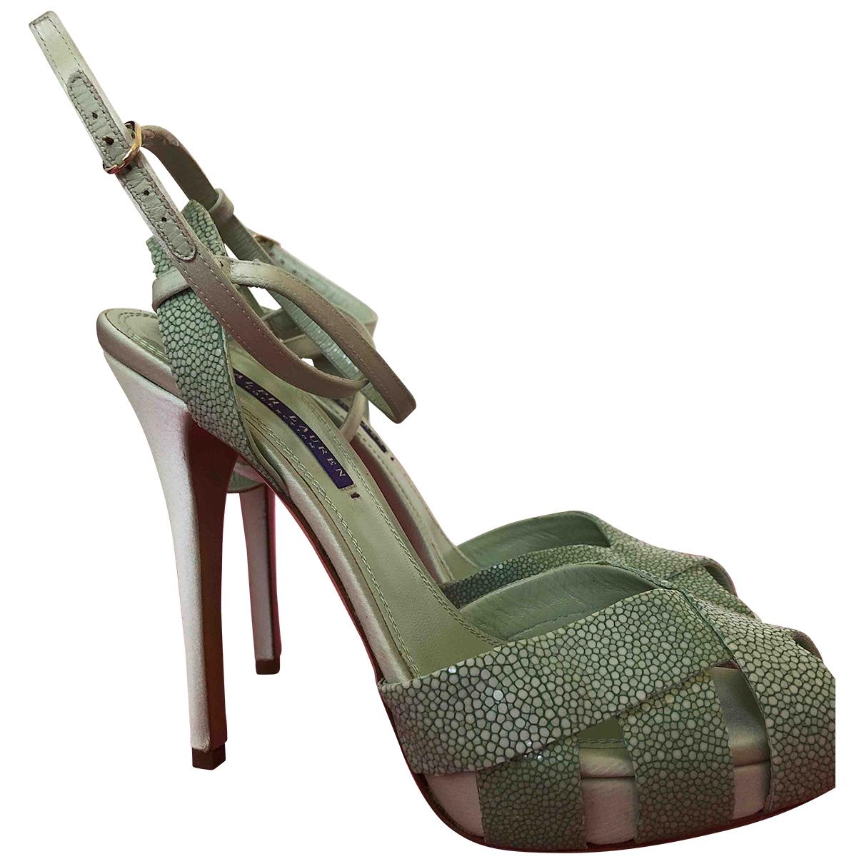Ralph Lauren Purple Label - Sandales   pour femme en cuir exotique - vert