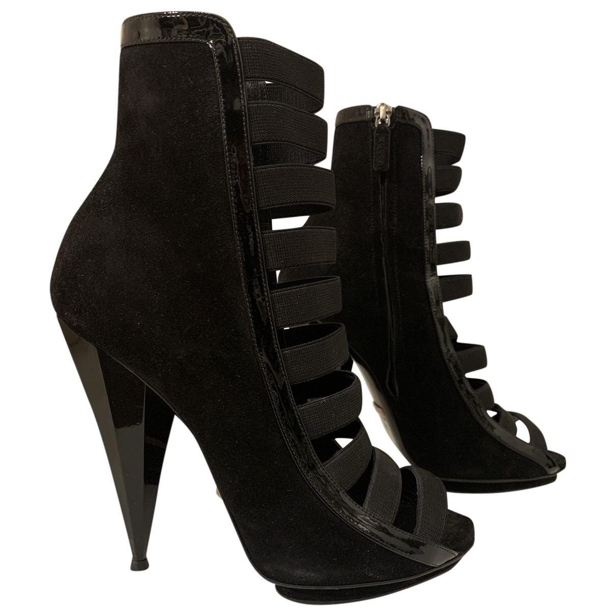 Gucci \N Black Suede Sandals for Women 38.5 EU