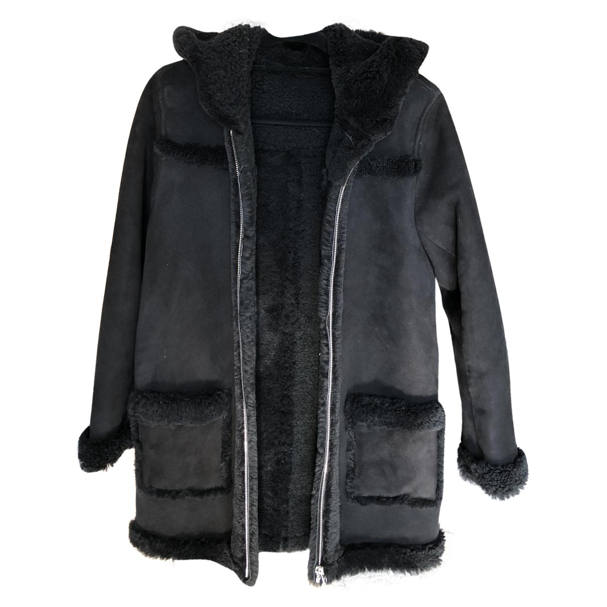 Sandro Fall Winter 2019 Black Wool coat for Women 38 FR