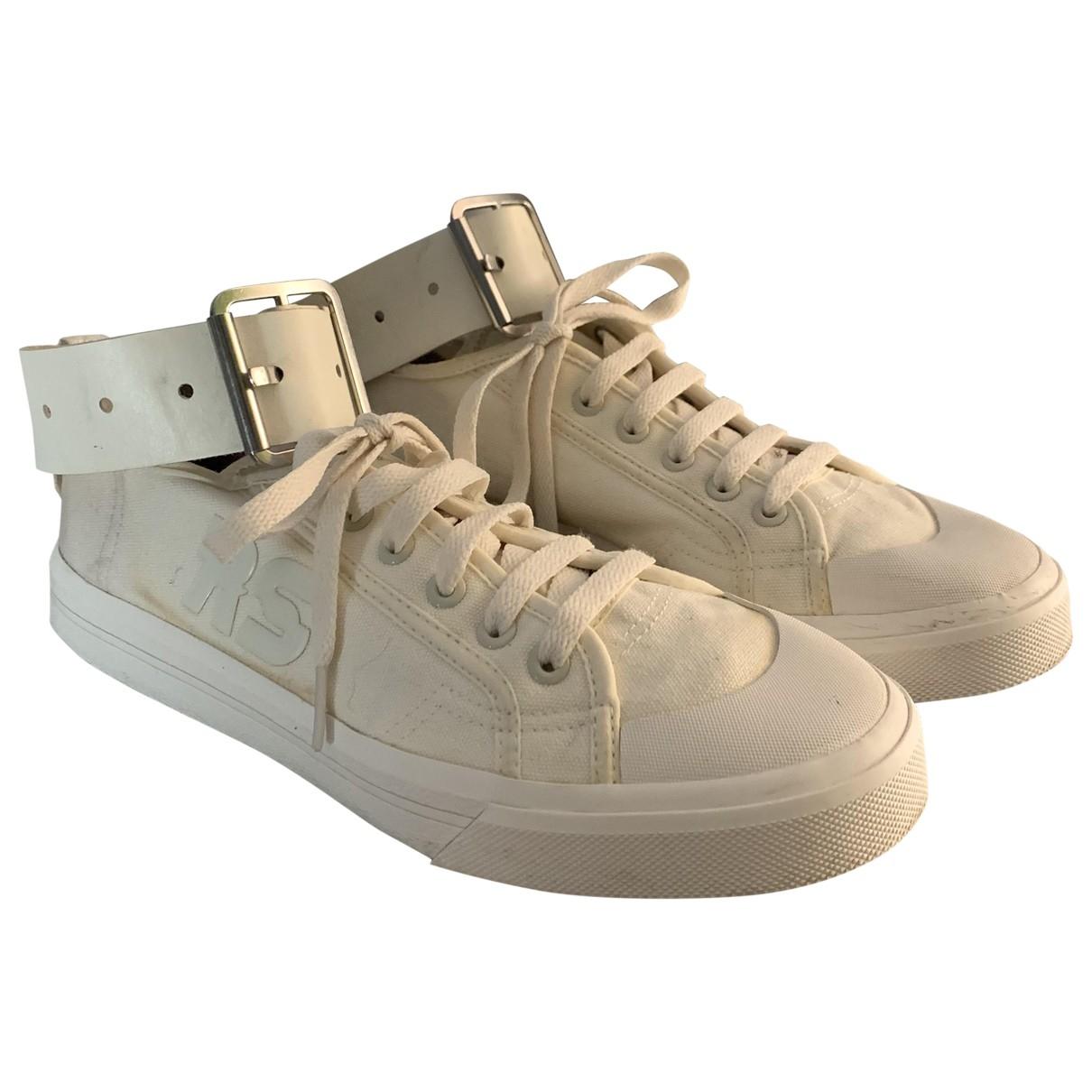 Adidas X Raf Simons - Baskets Spirit pour homme en toile - beige