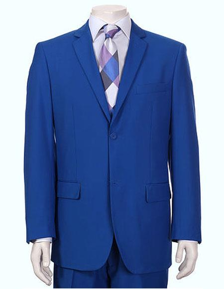 Men's Vitali Single Breasted Authentic 2 Button Royal Slim Fit Suit