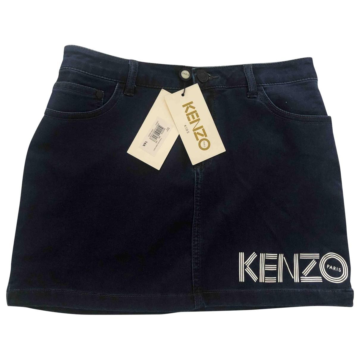 Kenzo \N Navy Denim - Jeans skirt for Kids 14 years - S