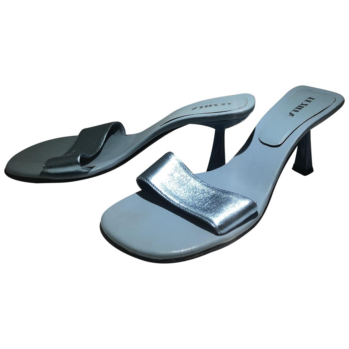 Le Silla - Sabots   pour femme en cuir - turquoise