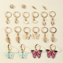 20 Stuecke Ohrringe mit Schmetterling Dekor