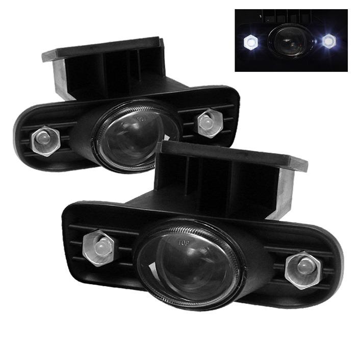 Spyder Auto FL-P-GS99-HL-SM Smoke LED Projector Fog Lights with Switch Sierra 1500 HD | 2500 HD | 3500 | C3 01-02