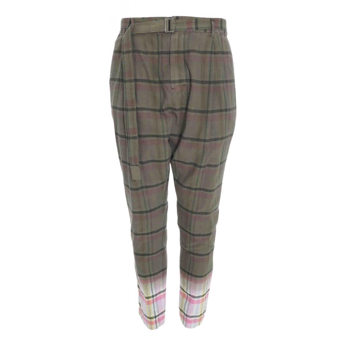 Sacai \N Green Cotton Trousers for Men M International