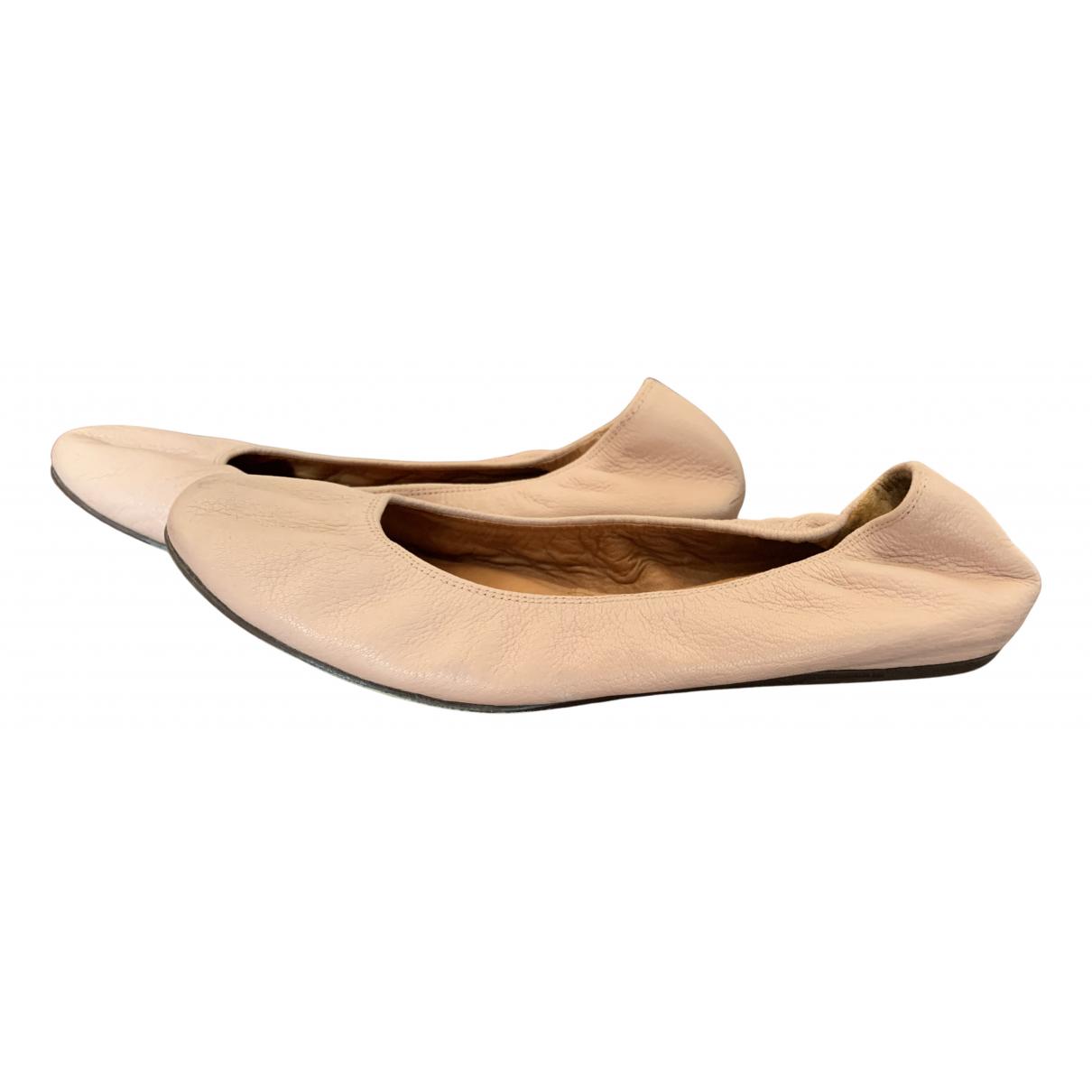 Lanvin \N Pink Leather Ballet flats for Women 42 EU