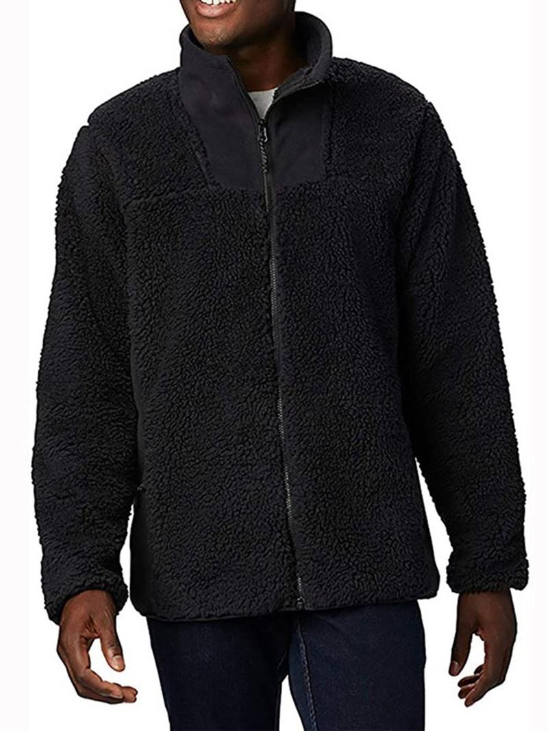 Ericdress Patchwork Plain Stand Collar Zipper Fall Jacket