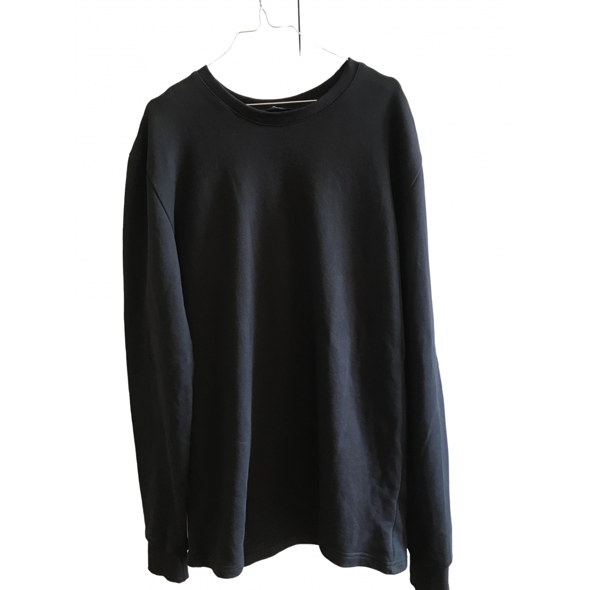 Non Signe / Unsigned \N Pullover.Westen.Sweatshirts  in  Schwarz Baumwolle