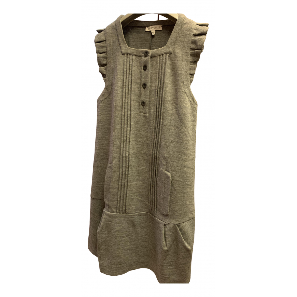 See By Chloé N Grey Wool dress for Women 38 FR
