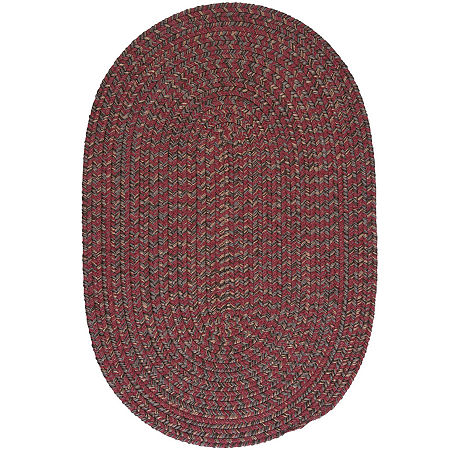Colonial Mills Grafton Tweed Reversible Braided Oval Rug, One Size , Red