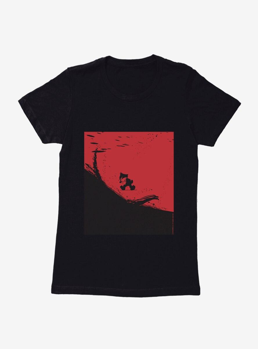 Felix The Cat On The Edge Womens T-Shirt