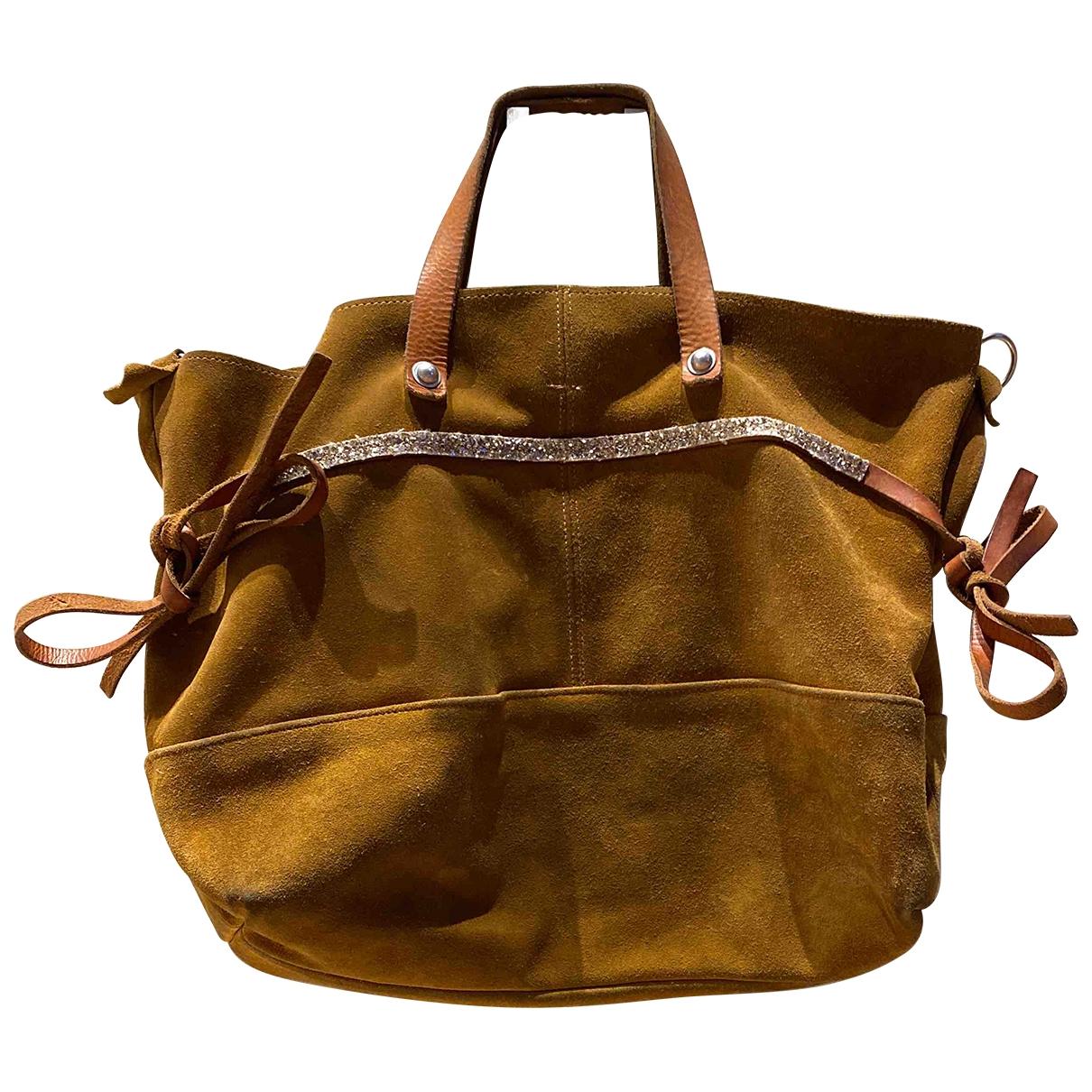 Estellon \N Handtasche in  Kamel Leder