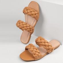 Kunstleder geflochtene Sandalen