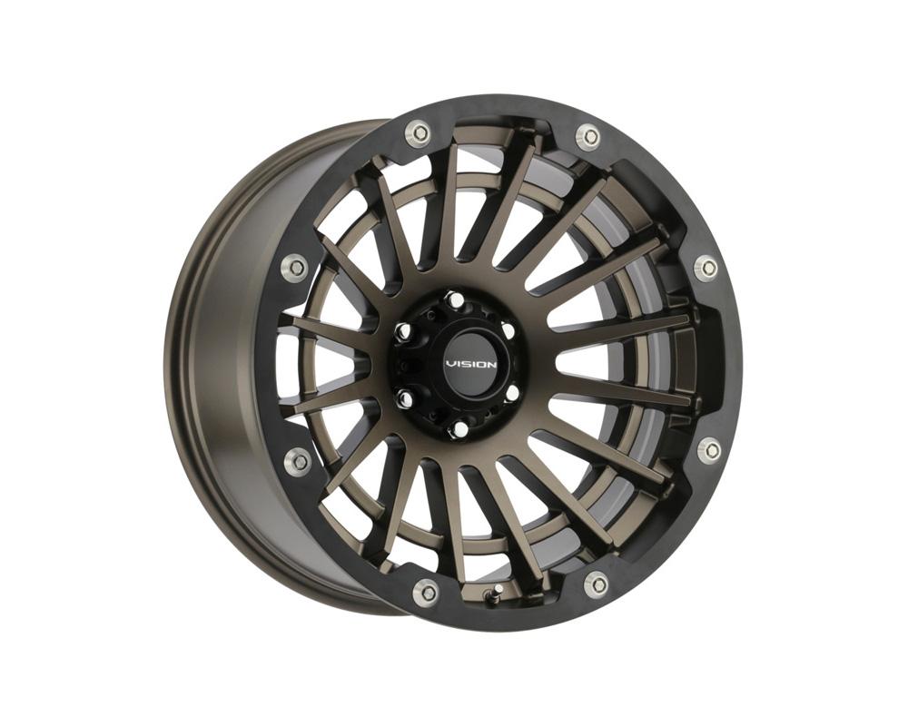 Vision Creep Satin Bronze w/Satin Black Ring Wheel 20x9 8x170 12