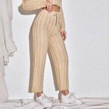 Ziehbaendchen Einfarbig Laessig Pulloverhose