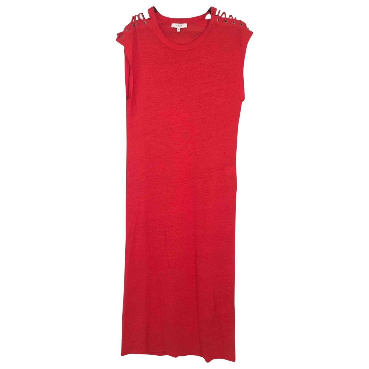 Iro \N Red Linen dress for Women M International