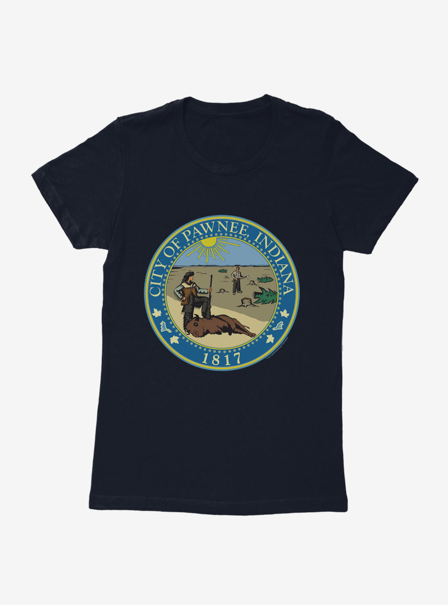 Parks And Recreation Pawnee Indiana Seal Womens T-Shirt