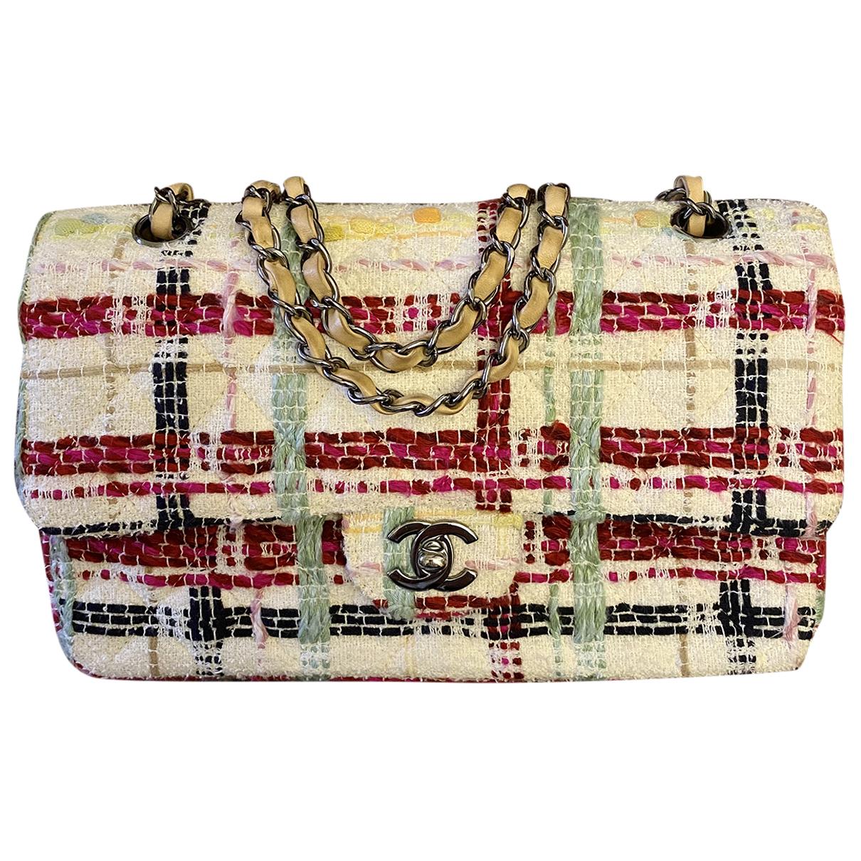 Chanel Timeless/Classique Handtasche in  Bunt Tweed