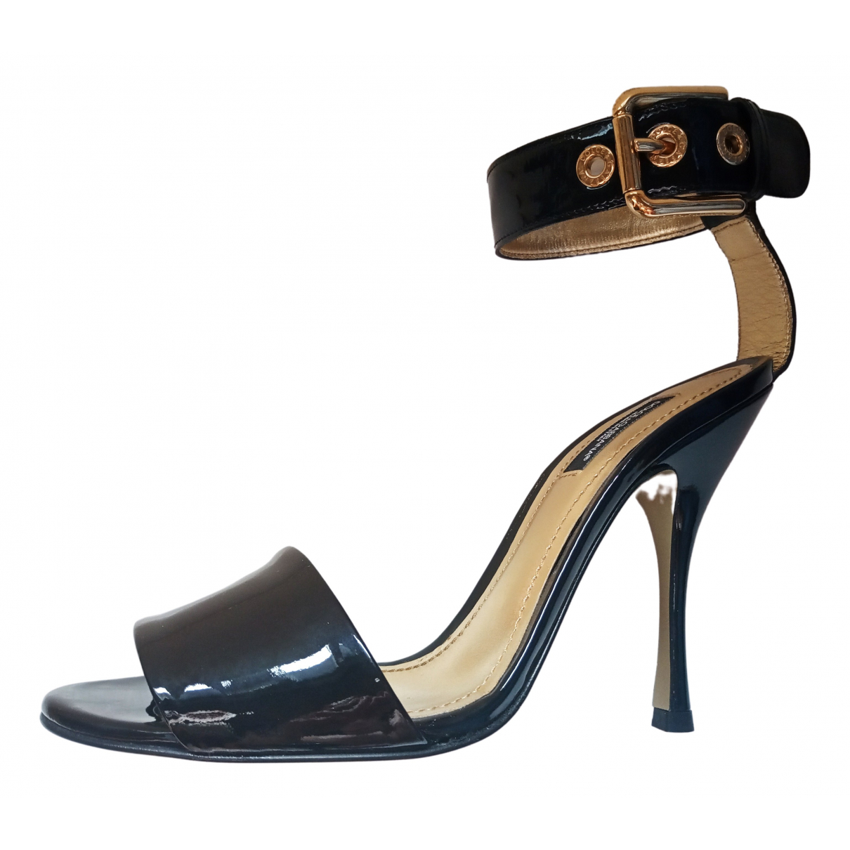 Dolce & Gabbana \N Black Patent leather Sandals for Women 37.5 IT